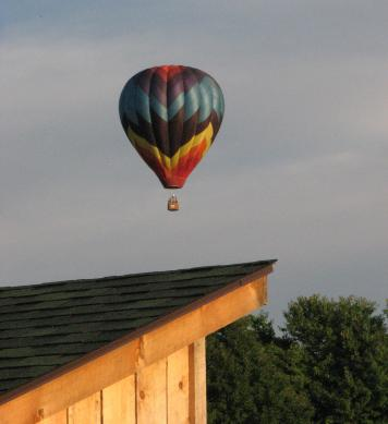 hot air balloon 2012, NYSFOB, over coop