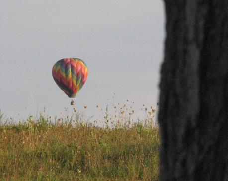 hot air balloon 2012, NYSFOB, over field