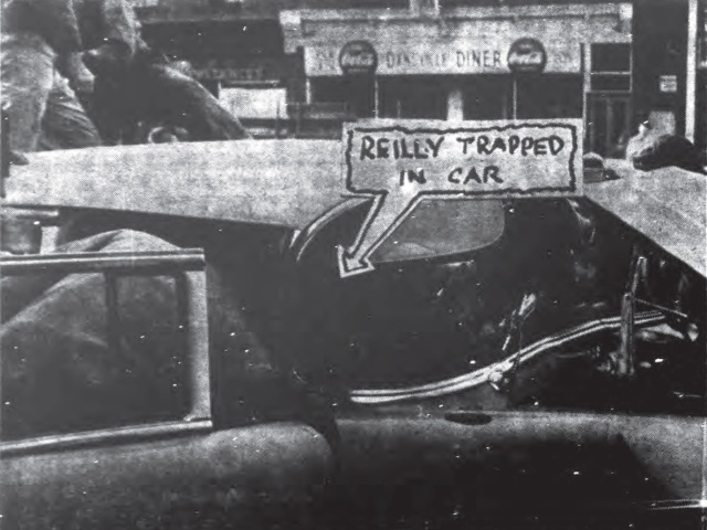 Reilly trapped in car at Maxwell House Coffee Shop Jan 18 1961