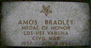Amos Bradley 1837-1894 grave stone Spokane Washington cropped