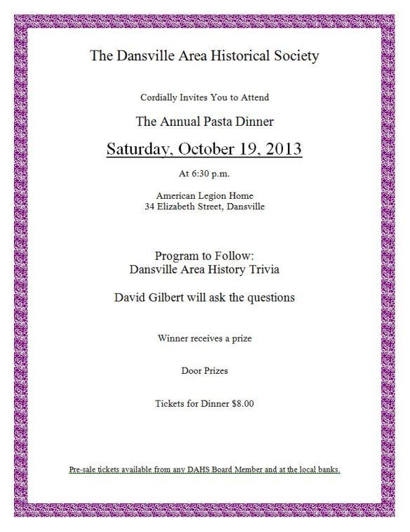 Annual dinner 2013 flyer