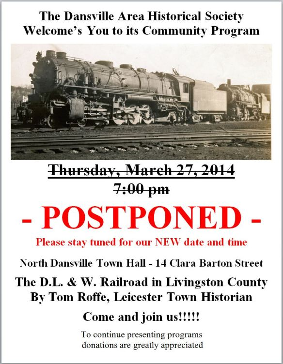 DL&W by Tom Roffe Mar 27 2014 - postponed -