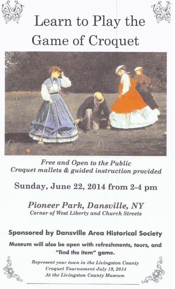 2014 Croquet Poster - Dansville - June 22 REVISED