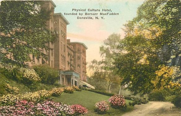 Physical Culture Hotel founded by Bernarr Macfadden from north color PC unused