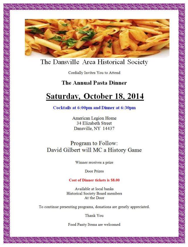 2014 Annual dinner flyer