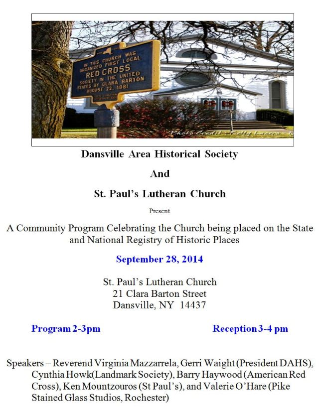 Lutheran Church program 2014
