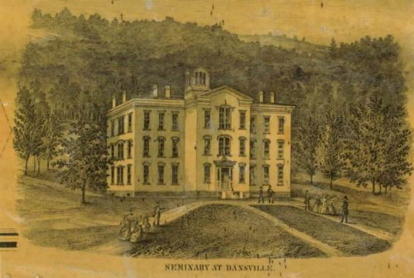 1858 Dansville Seminary from old map