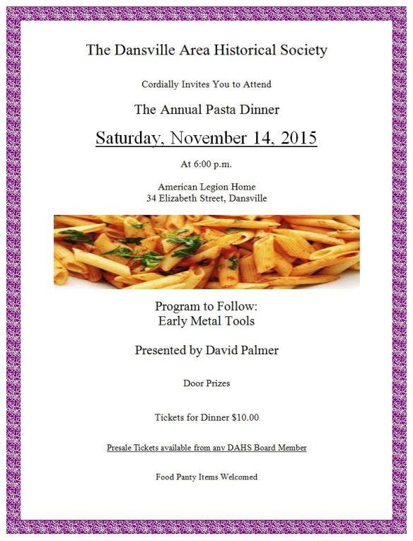 2015 Annual dinner flyer
